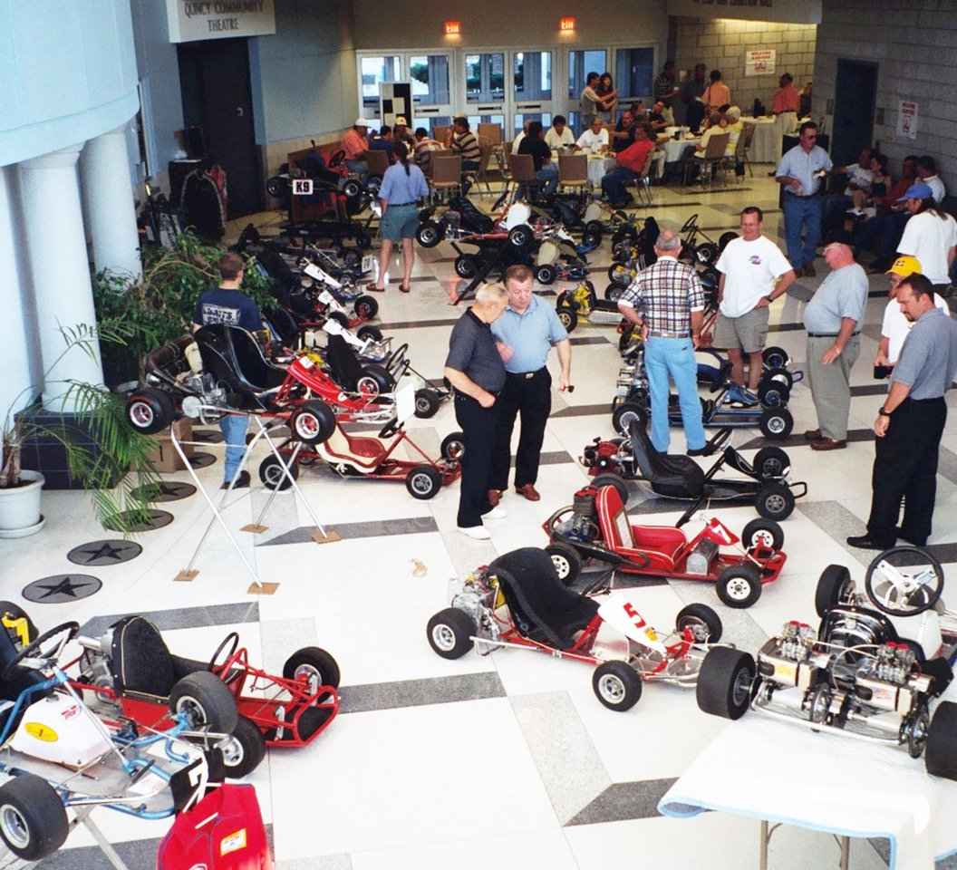 Quincy also featured a huge indoor kart show that became a standard part of the vintage kart experience