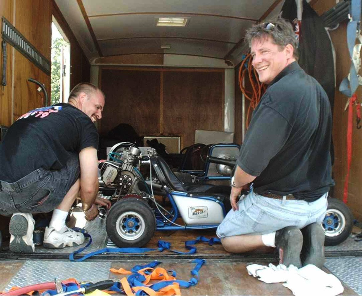 Don and Bob Thompson brought several beautiful karts to the first event